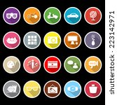 favorite and like flat icons... | Shutterstock .eps vector #223142971