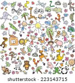 children's drawings  | Shutterstock .eps vector #223143715