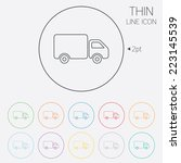 delivery truck sign icon. cargo ... | Shutterstock .eps vector #223145539
