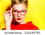 close up portrait of a stunning ... | Shutterstock . vector #223149781