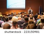 speaker at business conference... | Shutterstock . vector #223150981