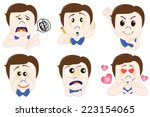 people emoticon set | Shutterstock .eps vector #223154065