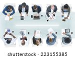 group of diverse business... | Shutterstock . vector #223155385