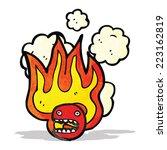 flaming emoticon face symbol | Shutterstock .eps vector #223162819
