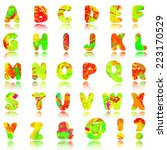 vector abstract alphabet  10eps | Shutterstock .eps vector #223170529