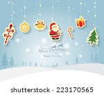greeting card  christmas and... | Shutterstock .eps vector #223170565