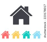 home icon | Shutterstock .eps vector #223178017
