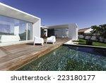 modern house with garden... | Shutterstock . vector #223180177