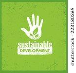 sustainable development...   Shutterstock .eps vector #223180369