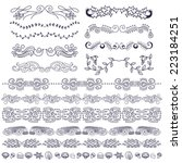 doodle design elements  swirls  ... | Shutterstock .eps vector #223184251