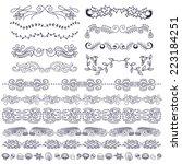doodle design elements  swirls  ... | Shutterstock .eps vector #223184251