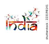 india inspirational inscription | Shutterstock .eps vector #223198141