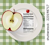 vector of nutrition facts apple | Shutterstock .eps vector #223198717