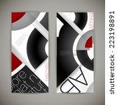 set of geometric backgrounds...   Shutterstock .eps vector #223198891