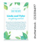 vector invitation card with...   Shutterstock .eps vector #223206697