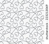 Hearts Lines Pattern Backgroun...