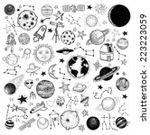 set of planets icon  hand drawn ...   Shutterstock .eps vector #223223059