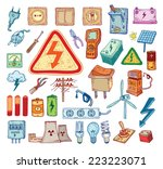 electricity doodle icon...   Shutterstock .eps vector #223223071