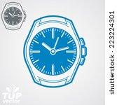 vector graphic pocket watch... | Shutterstock .eps vector #223224301