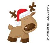 christmas reindeer standing in... | Shutterstock .eps vector #223235449