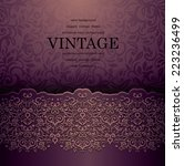vintage card with a border on... | Shutterstock .eps vector #223236499