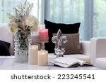 decoration on the table in... | Shutterstock . vector #223245541