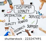 group of people and customer... | Shutterstock . vector #223247491
