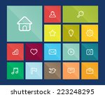 collection of flat icons for...