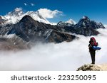 view of everest from gokyo ri... | Shutterstock . vector #223250095