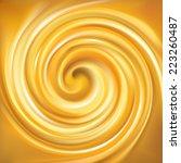 vector light ocher whirl ripple ... | Shutterstock .eps vector #223260487