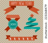 set of vector ribbons with... | Shutterstock .eps vector #223268479