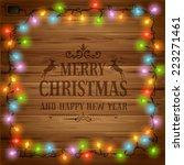 christmas festive background... | Shutterstock .eps vector #223271461