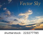 blue sky with clouds. vector... | Shutterstock .eps vector #223277785