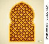 arabic islamic pattern arch... | Shutterstock .eps vector #223277824
