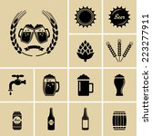 beer icons. vector for web | Shutterstock .eps vector #223277911