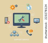 concept for computer support.... | Shutterstock .eps vector #223278124