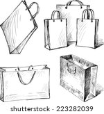 shopping bags | Shutterstock .eps vector #223282039