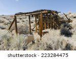 boarded up old pumice mine...