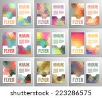 set of abstract flyer template... | Shutterstock .eps vector #223286575