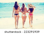 group of three beautiful hot... | Shutterstock . vector #223291939