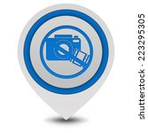 ban shooting pointer icon on... | Shutterstock . vector #223295305