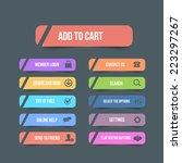 vector flat web buttons  | Shutterstock .eps vector #223297267