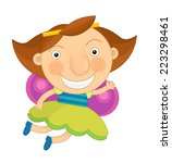 cartoon child dressed as fairy  ... | Shutterstock . vector #223298461