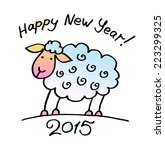 greeting card with sheep. text  ... | Shutterstock .eps vector #223299325