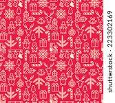 christmas seamless pattern.... | Shutterstock .eps vector #223302169
