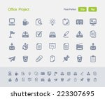 office project icons. granite... | Shutterstock .eps vector #223307695
