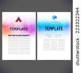 abstract vector template design ... | Shutterstock .eps vector #223322344
