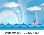 cartoon illustration of sea... | Shutterstock . vector #223324564