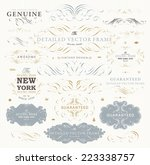 vintage vector design elements... | Shutterstock .eps vector #223338757