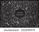 Set Of Floral Elements On The...